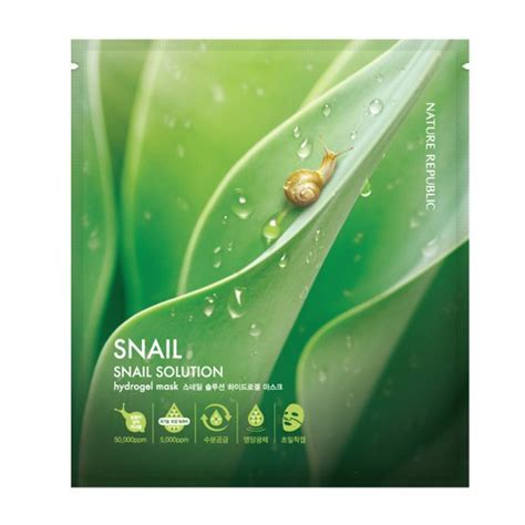 Snail Solution Mask Sheet careergal korean skincare review nature republic snail