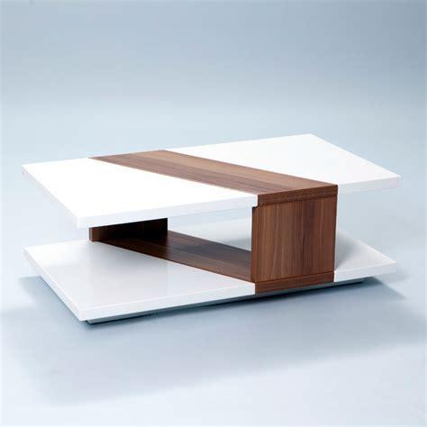 Overstock Coffee Tables High Gloss Walnut Rectangular Coffee Table Contemporary Coffee Tables By Overstock