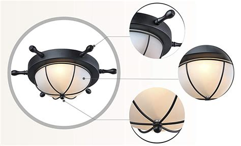 nautical flush mount ceiling light lnc 2 light nautical flush mount ceiling light amazon com