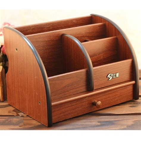 Multifunctional Wooden Desk Accessories And Organizer With Wood Desk Accessories And Organizers