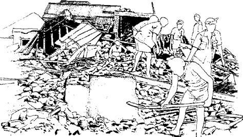 earthquake drawing earthquake disaster drawing