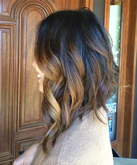 caramel highlites on inverted bob 41 hottest balayage hair color ideas for 2016 long bob