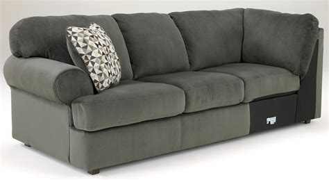 jessa place sectional pewter jessa place pewter right arm facing sectional from ashley