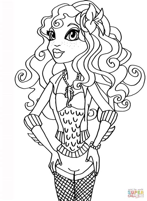 coloring pages monster high lagoona blue monster high lagoona blue v 228 rityskuva