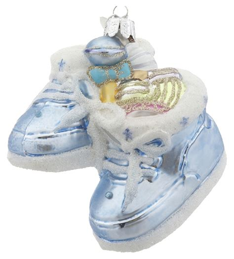Handmade Ornaments For Babies - boy baby shoes ornament baby