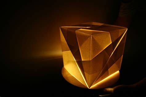 Origami Light Fixture - origami light fixture collapsible papercraft lighting