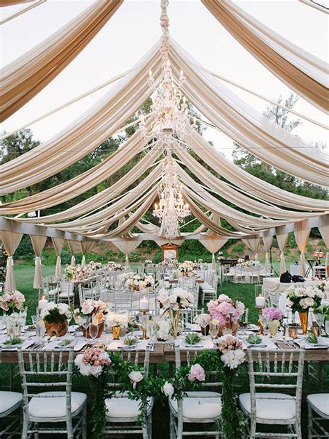 outdoor wedding reception decor glamorous tent weddings archives weddings romantique
