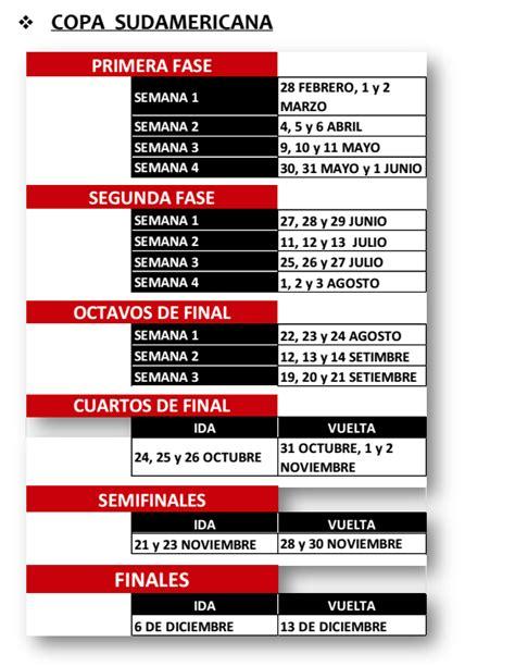 Calendario Sudamericana 2018 Conmebol Dio Calendario De Libertadores Y Sudamericana