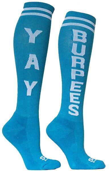 crossfit socks yay burpees knee high socks