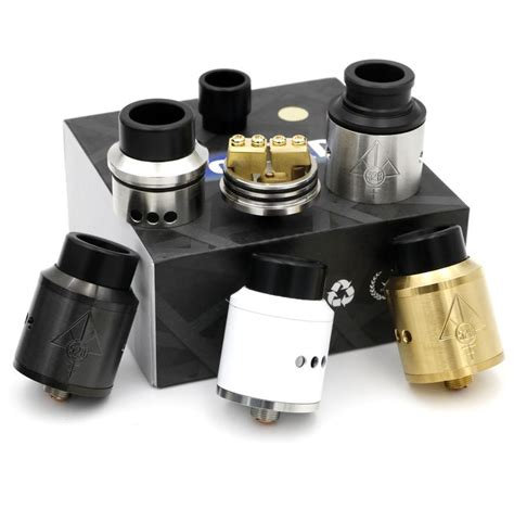 Murah Rda Goon 24mm Clone 1 1 vaporizer black goon rda 1 1 clone rebuildable atomizers with wide bore drip tip and