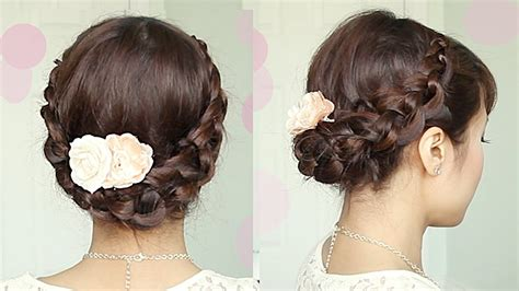 Crochet stitch updo hairstyle for medium long hair tutorial bebexo