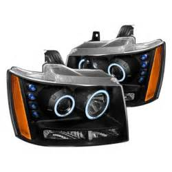 spec d 174 chevy tahoe 2007 black halo projector led headlights