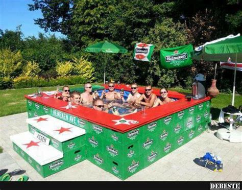 swimming pool garten 566 m 228 nner pool aus bierk 228 sten lustige bilder spr 252 che
