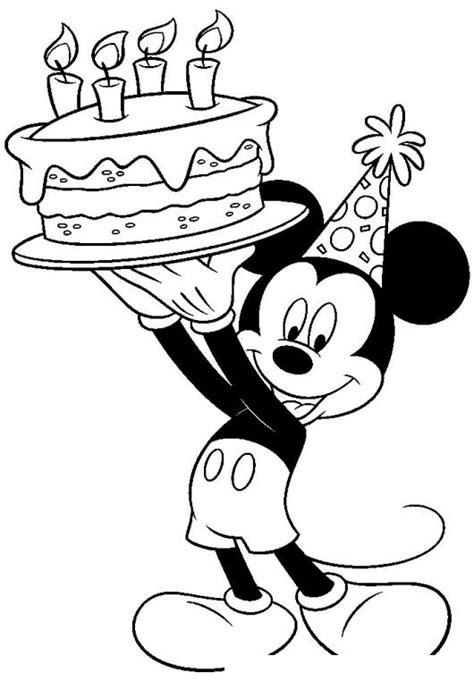 imagenes satanicas de mickey mouse dibujo de mickey mouse con un pastel para pintar y
