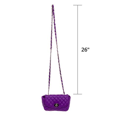 Quilted Chain Crossbody Bag quilted crossbody bag w metal chain ebay