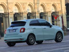 Fiat 500 5 Door Fiat 500 Cinqueporte Rendering Previews Future 5 Door