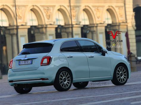 fiat hatchback fiat 500 cinqueporte rendering previews future 5 door