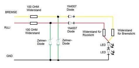 Motorrad Blinker Verkabelung by 3 1 Led Blinker R 252 Cklicht Eigenbau Elektrik Und Co