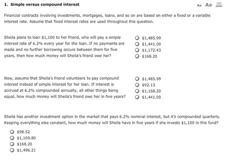 Mortgage Letter Of No Further Interest solved 1 simple versus compound interest aa aa financial