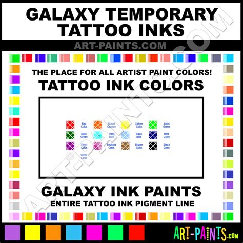 galaxy temporary ink pigment paint colors galaxy