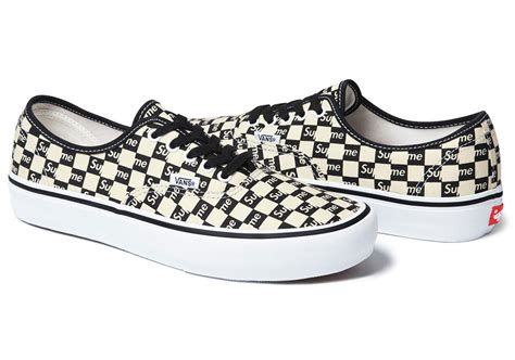 supreme x vans checkerboard pack sneaker bar detroit