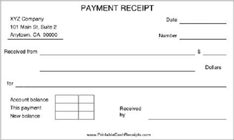 car payment receipt template a basic payment receipt to be used by a retail store or