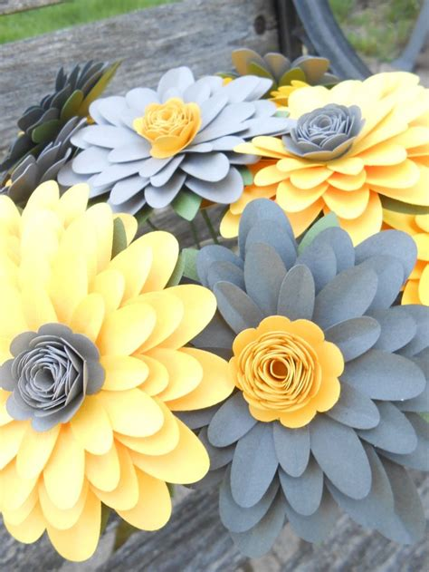 gerber daisy paper flower bouquet choose  colors