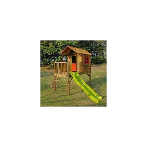 Cabane Avec Toboggan 4509 by Maisonnette Pour Enfants Avec Cabane Et Toboggan Praline