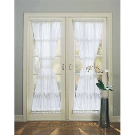 door panel curtains lowes shop style selections high twist voile door 72 in l solid