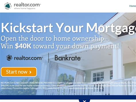 Realtor Com Sweepstakes - the realtor com kick start your mortgage sweepstakes sweepstakes fanatics