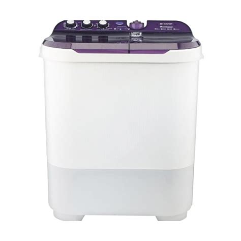 Mesin Cuci 2 Tabung 15 Kg jual sharp es t1090 vk mesin cuci violet 2 tabung 10