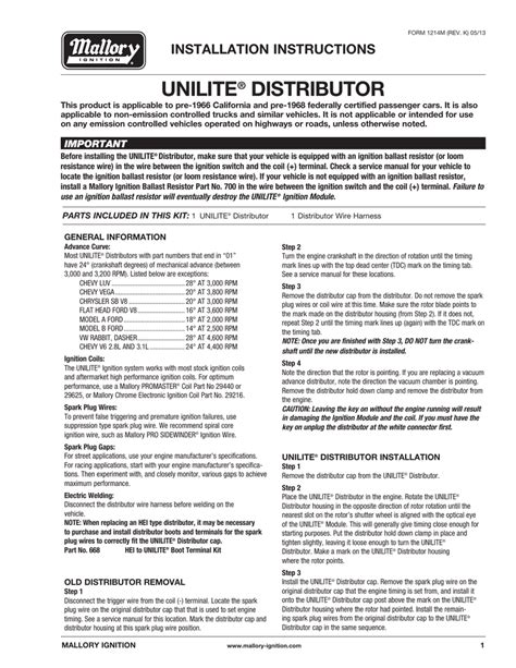 mallory unilite wiring diagram for motorcycle wiring