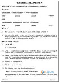 business lease template australian business lease agreement template