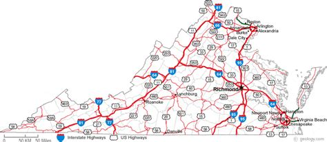 map virginia map of virginia