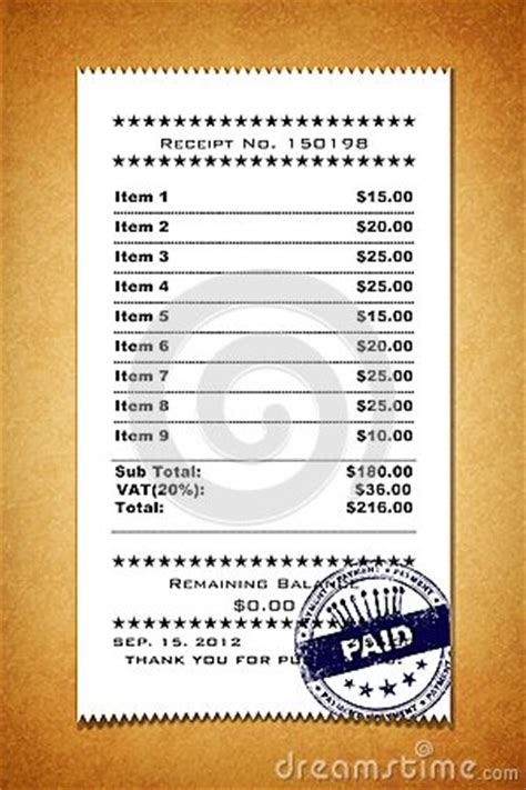 grocery store receipt template receipt template stock photos image 28190493