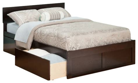 full bed with drawers atlantic furniture orlando bed with drawers in espresso