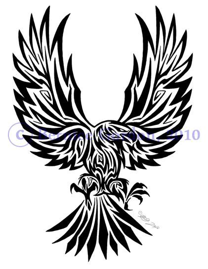 polish tribal tattoos eagle tribal by tarkheki on deviantart design