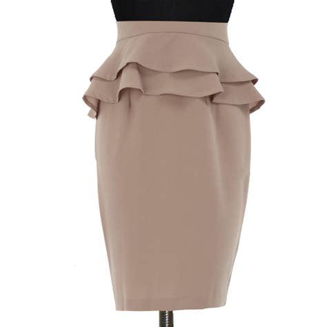 plus size brown peplum pencil skirt elizabeth s custom