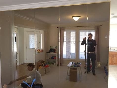 how to remove glass mirror from bathroom wall diy project removing floor to ceiling mirrors from a