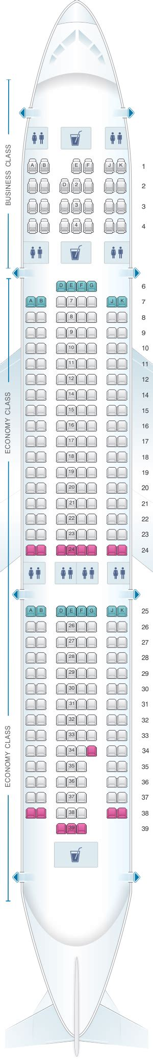 emirates seat map mapa de asientos emirates airbus a330 200 two class