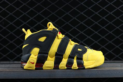 More From 12 by Nike Air More Uptempo Custom Bruce Black Yellow Noir