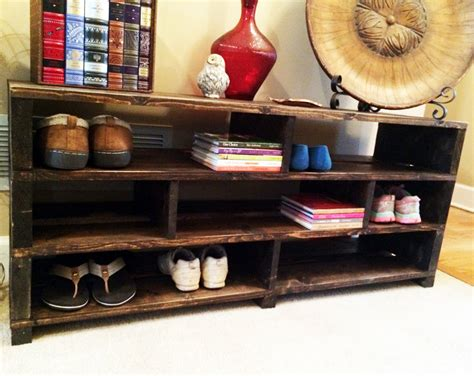 Handmade Shoe Rack - handmade shoe storage bench shelving shoe rack wood