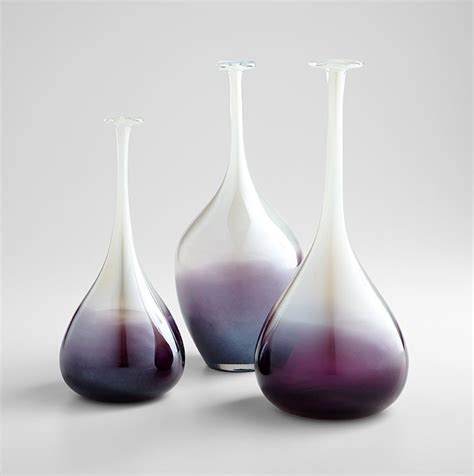 Small Clear Vases Curie Purple And Clear Small Vase From Cyan Design 7340