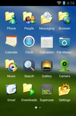 windows themes for clauncher windows xp android theme for clauncher androidlooks com