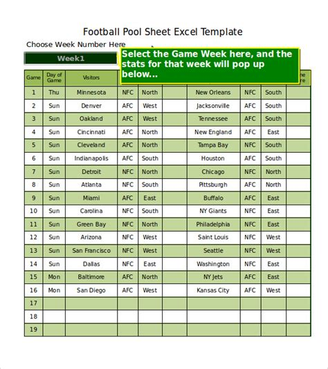 Contoh Notulen Rapat Marching Band weekly football picks template template weekly