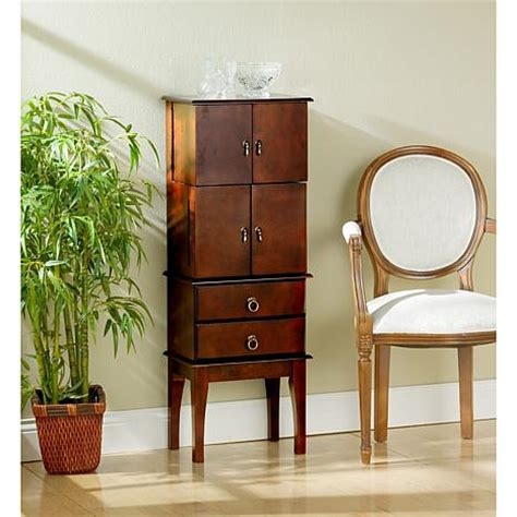 jewelry armoire cherry 6221909 hsn