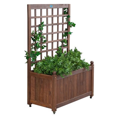 planter box with trellis manufacturing wood planter box with trellis