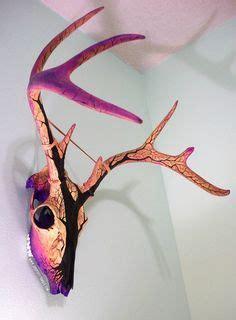 spray painting deer skull this is a real deer skull i spray painted the antlers