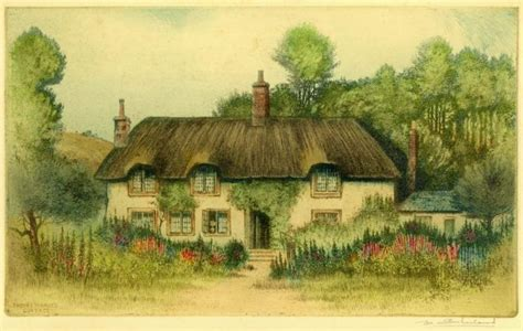 Hardy Cottage by Sharland Edward Charter Prints Original Watercolours