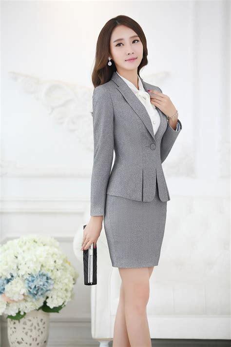 Blazer Set Skirt formal black blazer business suits with skirt and